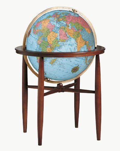 Replogle Globes Illuminated Finley Globe, Blue Ocean, 20-Inch Diameter by Replogle