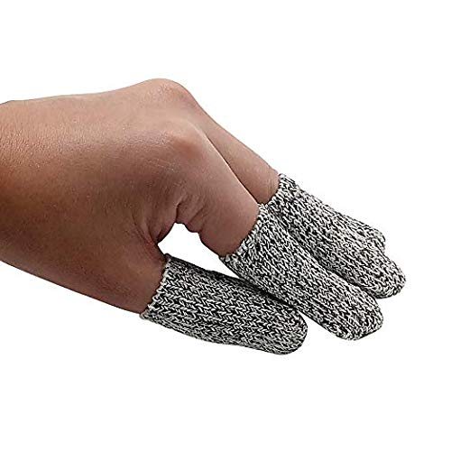 EvridWear Finger Cots Cut Resistant Protection, Glove Life Extender, Finger Sleeves, Substitute for A Full Glove, Thumb Protector, HPPE Rated (20PCS/Pack) 2 Lengths (3 Packs Short) by Evridwear (Image #2)