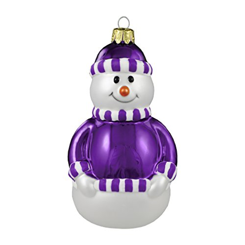 Boelter Brands 536054 Glass Snowman Ornament, Purple