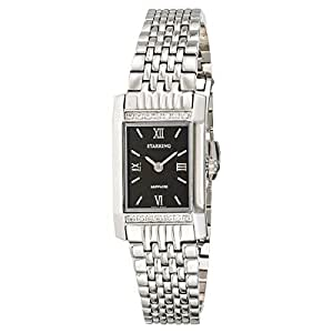Starking Women's Black Dial Stainless Steel Band Watch - BL0778SS12