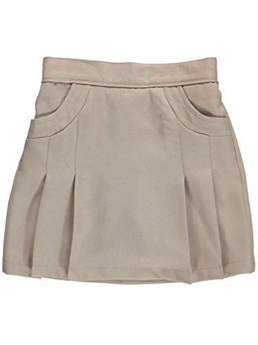 Nautica Little Girls' Stitched Pocket Scooter Skirt - Khaki, 5 by Nautica