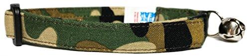 - Breakaway Cat Collar in Green Brown Black Camo (Handmade in the U.S.A.)