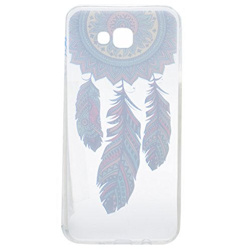 Cover Galaxy A5 2017, IJIA Ultrafino Transparente Azul Atrapasueños TPU Silicona Suave Funda Carcasa Case Shell Tapa Caso Parachoques Cubierta para Samsung Galaxy A5 2017 (No Apto para Galaxy A5 2016)