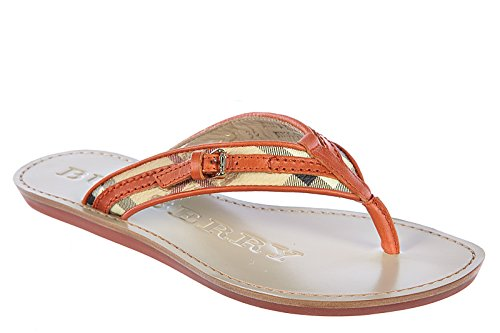 Burberry mujer zapatillas sandalias chanclas en piel nuevo aldermary haymarket n