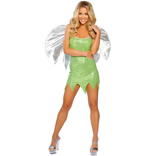 Deluxe Sexy Tinkerbell Costume (Tinkerbell And Peter Pan Costumes For Adults)