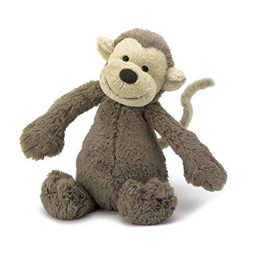 [해외]Jellycat (제리 캣) バシュフル 원숭이 M 인형 원숭이 앉은 키 20cm 브라운 / Jellycat (Jelly Cat) Bashful Monkey M Plush Monkey Zataka 20cm Brown