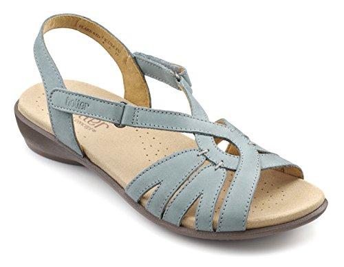 Hotter Womens Flare Extra Wide Sandal Blue (Aqua)