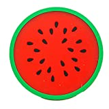 LiPing 8.8cm/3.46in Fruit Series Silica gel Coasters oasters Absorbent Eco-Friendly Protects Furniture from Water Stains & Damages Thermal Insulation (Red)