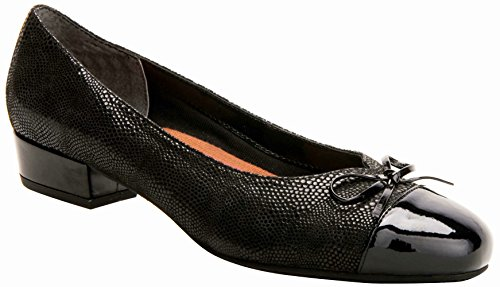 Ros Hommerson Tawnie Women's Casual Shoe: Black/Lizard Print/Patent 9 Wide (D) Slip-On