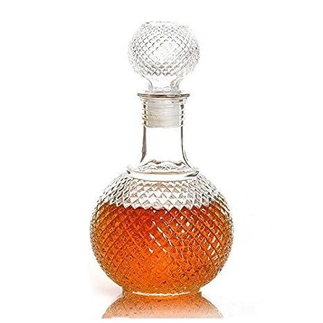 Botella de vino - SODIAL(R) botella de vidrio con tapa de cierre portatil