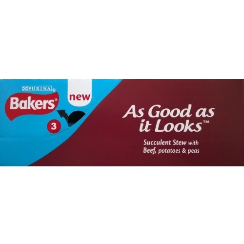 Bakers Succulent Stew with Bef, Potatoes & Peas - 6 x 280gm by Bakers