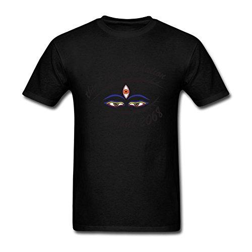 NYShirt Men's Third Eye Logo Short Sleeve T-Shirt Medium Black