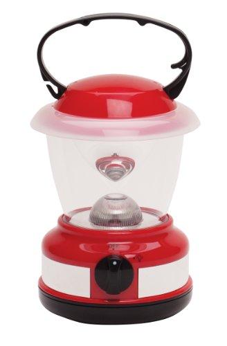 Stansport 1-Watt Battery-Operated Tent Lantern, Red, Outdoor Stuffs