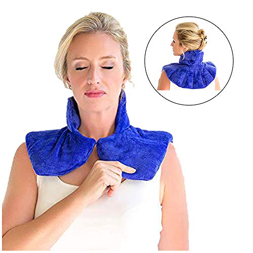 Zen Therapy - Microwavable Neck Wrap for Therapy | Hot & Cold Neck Shoulder Pad | Soothes Muscle & Arthritis Pain | Neck Heat Pad for Aromatherapy, Minor Injuries, Swelling & Stress Relief