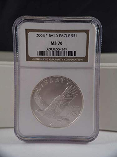 2008 P Bald Eagle Silver Commemorative MS 70 NGC