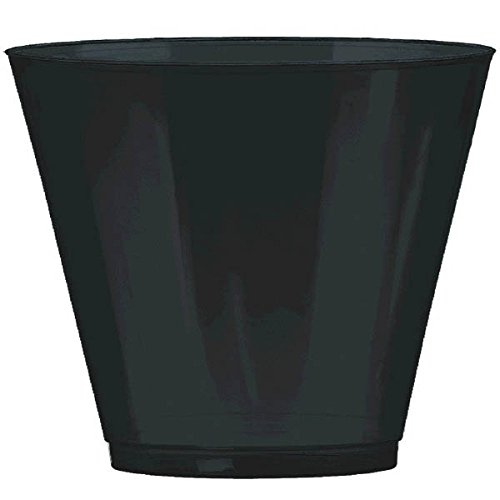 Big Party Pack Jet Black Plastic Cups | 9 oz. | Party Supply | 648 ct.