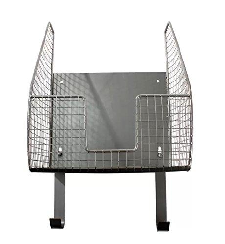 (Wall Mount IroningBoard Holder Storage Iron Organizer Laundry Basket w/ Mounting Hardware in Pewter Finish)