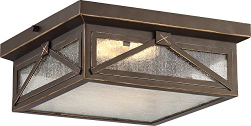 - Nuvo Lighting One Light Nuvo 62/813 LED Outdoor Flush Mount, Bronze/Dark