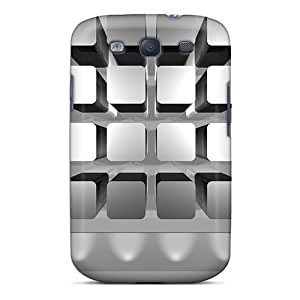 Awesome Design Metal Apps Frame Hard Case Cover For Galaxy S3