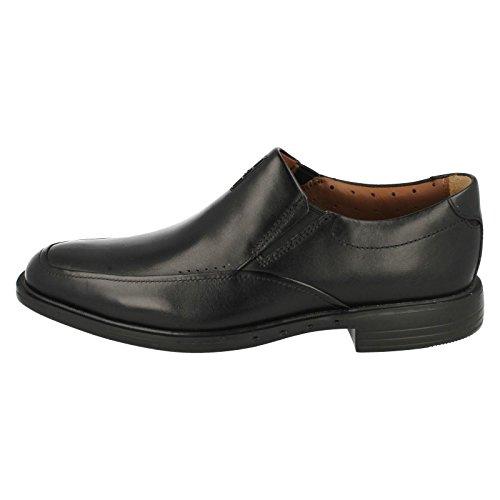 Clarks UnBizley Lane formale Mens scarpa in pelle nera Black Leather 8½ G