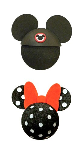 Mickey Mouse Car Accessories (Disney Mickey Mouse and Polka Dot Minnie Mouse Antenna Topper Set)