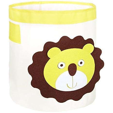 Fabelbunt® Caja para Juguetes Grande león (Capacidad de 33 litros)