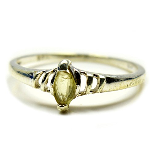 (Gemsonclick Natural Lemon Quartz Ring Marquise Shape Handmade 925 Sterling Silver Jewelry Ring Sizes 4-13)