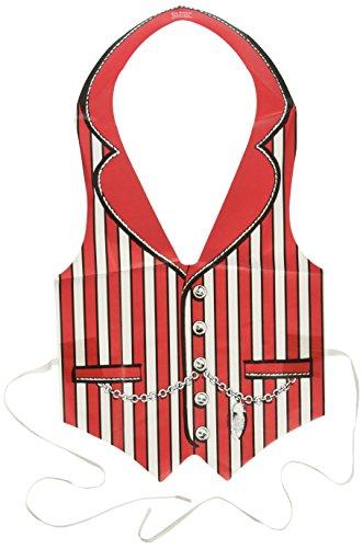 Pkgd Plastic Roaring 90's Vest (red) Party Accessory  (1 count) (1/Pkg) (Casino Plastic)