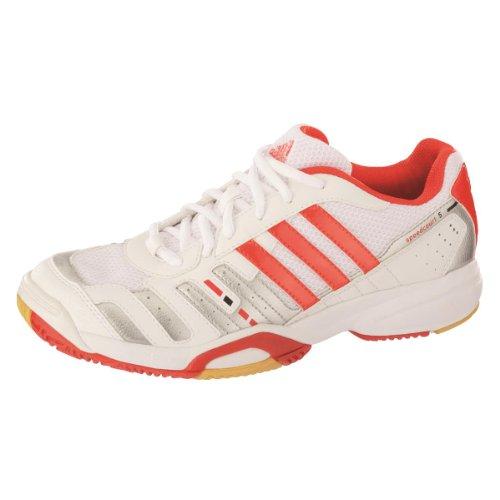 adidas - Zapatillas de balonmano para hombre - weiß/rot/silber