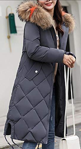 Puffer Hooded Long Jacket EKU Women's Down Parka Gery Thicken qTxUE