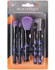 Kit KP5-35 com 5 pincéis para maquiagem Macrilan - Coração G Lilas, Macrilan