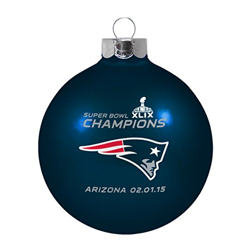 Champs Ornament (Super Bowl XLVIIII 49 Champs New England Patriots Large Christmas Ornament)