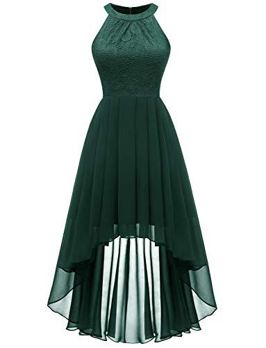 420a3159c5 Dressystar Women s Floral Lace Hi-Lo Bridesmaid Dress Formal Wedding Maxi  Dress