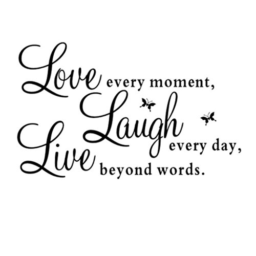 Bokeley Removable Live Every Moment,Laugh Every Day,Love Bey
