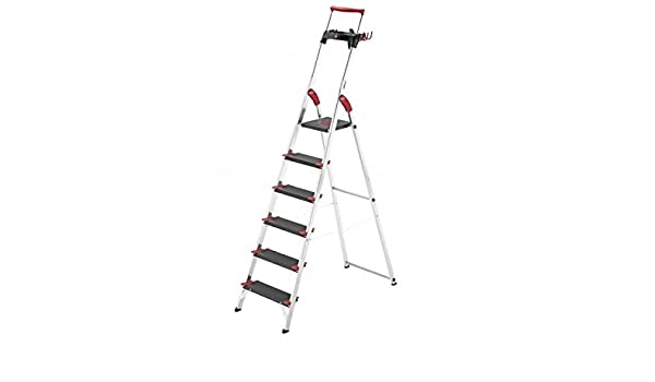 Hailo 0005261 Modelo XXR Escalera de Seguridad, Fabricada en Aluminio, Escalones Extra Profundos, Máxima Capacidad de Carga Hasta 225 Kgs, Versión de 5 Peldaños: Amazon.es: Industria, empresas y ciencia