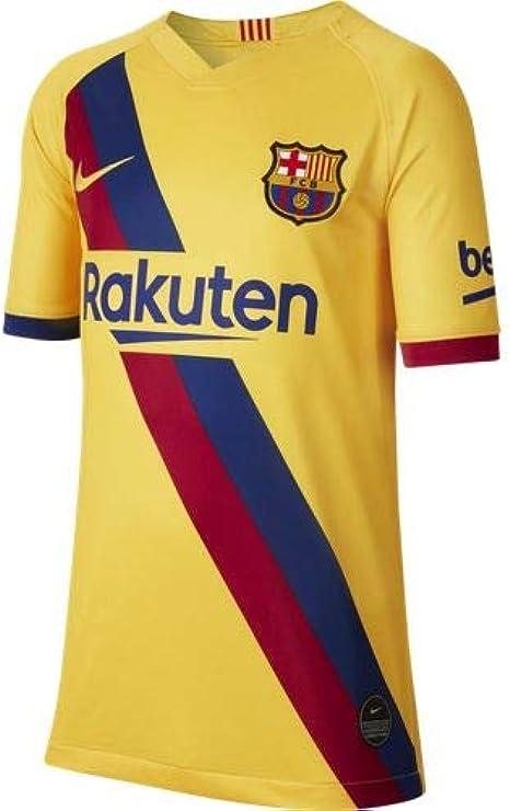 Amazon Com Nike Fc Barcelona 2019 20 Stadium Soccer Youth Away Jersey 2019 20 Kids L Youth Clothing