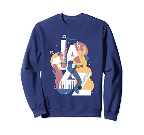 - Unisex Vintage Jazz Music Festival Sweatshirt Gifts 2XL Navy