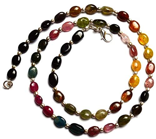 GemAbyss Beads Gemstone 1 Strand Natural Tourmaline Multicolor Nugget Beads 18 Inch Long Full Strand Top Quality 8x6 to 9x7MM Code-MVG-11892