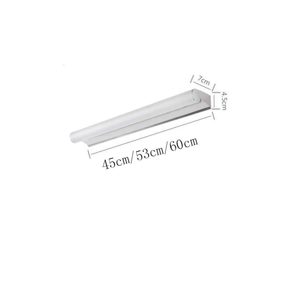 JQD Hauptbadezimmer-Spiegel-Scheinwerfer-Edelstahl-geführte Spiegel-Front beleuchtet einfaches modernes Badezimmer-Licht Spiegel-Kabinett-Licht Schlafzimmer-Wand-Lampe Make-Up-Lampen-Birne, SPI