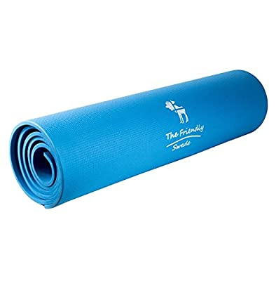 The Friendly Swede Extra Lightweight EVA Exercise Mat for Pilates and Yoga, Softer and Thicker Support Mat - Less Chemicals Used and BPA Free