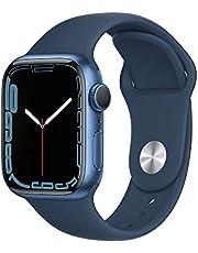AppleWatch Series7 (GPS) • 41‐mm kast van blauw aluminium • Abyss-blauw sportbandje- Standaardmaat