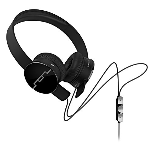 SOL REPUBLIC 1211-01 Tracks On-Ear Interchangeable Headphones with 3-Button Mic and Music Control – Black (Certified Refurbished)