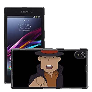 Hot Style Cell Phone PC Hard Case Cover // M00043976 professor anime layton artistic // Sony Xperia Z1 L39