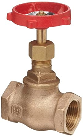 Milwaukee Valve 502 Series Bronze Globe Valve, Class 125, Inline, Threaded Bonnet, NPT Female
