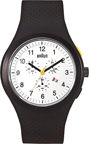 Braun Men's BN0115WHBKBKG Sport Chronograph Analog Display Quartz Black Watch
