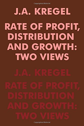 Rate of Profit, Distribution and Growth: Two - Rates Shipping Domestic Us