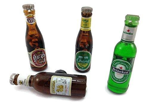 4 Beer Bottle Wall Magnet Collection 3d Fridge Magnet SOUVENIR TOURIST GIFT