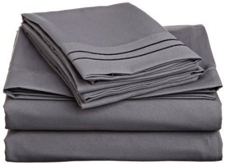 Navy Blue Solid Fitted Sheet Extra Deep Pocket Egyptian Cotton