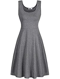 Women Striped Sleeveless Soft Cotton Tank Dress