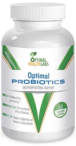 Les probiotiques optimales - Best Blend de Key probiotiques pour femmes hommes et enfants - 60 Natural Vegetarian Capsules - 100% Garantie de satisfaction
